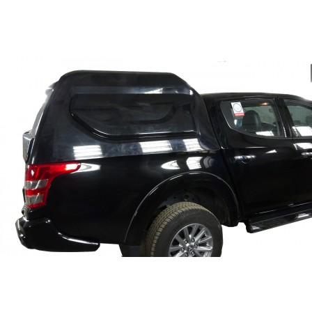 Кунг кузова для mitsubishi l200 (двойная кабина) (2015-)/fiat fullback (двойная кабина) (2016-) (3 двери) (чёрная)