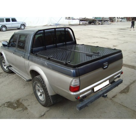 Крышка кузова Mitsubishi L200 old распашная, аллюминий