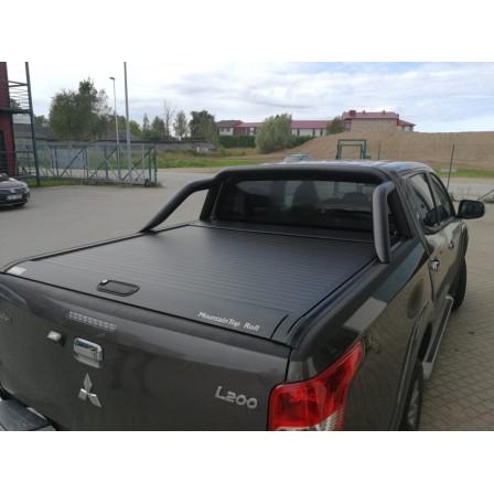 """Крышка Mountain Top для Mitsubishi L200 """"TOP ROLL"""", цвет черный c защитной дугой"""