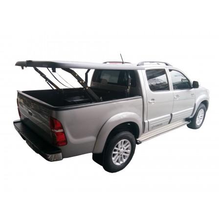 Крышка TopUp без дуг в 3 положенияToyota Hilux Vigo Double Cab, 1.52m, цвет Silver