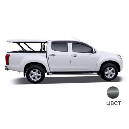 Крышка TopUp без дуг в 3 положения 2011+ Volkswagen Amarok Double Cab, цвет Grey