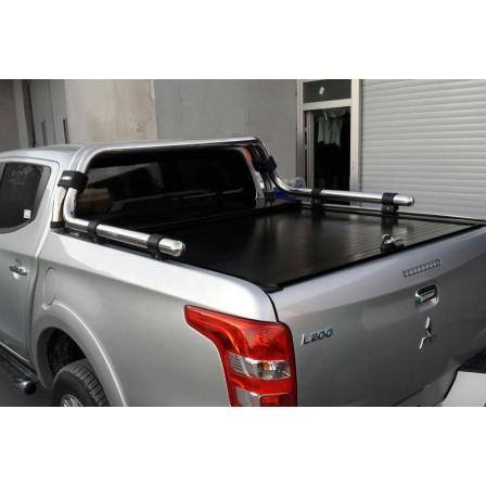 """Крышка для Mitsubishi L200 """"ROLL-ON"""" цвет черный с дугой CR004 (электростатическая покраска)"""